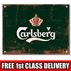 Metal Signs - CARLSBERG. Retro Plaque Vintage Kitchen Mancave Bar Pub Tin Sign