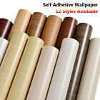 PVC Self-Adhesive Furniture Refurbished Wood Grain Wallpaper Home Stickers $12.85 USD on eBay