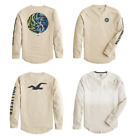 HOLLISTER Mens Crew Neck Graphic Tee Long Sleeve T Shirt by Abercrombie