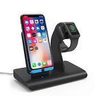 US 2in1 10W Qi Wireless Charger Holder For Apple iWatch 5/4/3/2/1 iPhone 11 8 XS