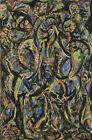Jackson Pollock Gothic Five Print Canvas Large Wall Picture Multisize #PM304