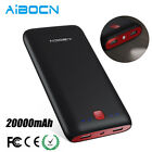Aibocn 20000mAh Power Bank Portable Dual USB Battery Fast Charger For Cell Phone