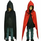 Adult Kids Halloween Witch Death Wizard Robe Cape Cloak Costume Party Cosplay