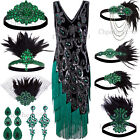 1920s Flapper Dress Gatsby Theme Fringe Costume Halloween Christmas Evening Gown