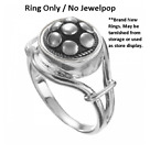 -NEW- Authentic Kameleon Jewelpop KR008  Take Notice Ring Silver 6,7,8,9 image