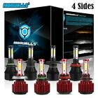 4 Side 9004 9005 9006 9007 H4 H7 H11 H13 H16 H10 LED Headlight Fog Bulbs Kit US $24.99 USD on eBay
