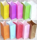 New paper bag mini Stand up Colorful Polka Dot  Bags 18x9x6cm Favor  Open Top