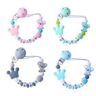Jw_ Infant Baby Beads Silicone Teether Bracelet Teething Soother Pacifier Clip