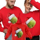 Matching Family Christmas Jumpers SPROUT HAT Funny Xmas Sweatshirt Sweater Top