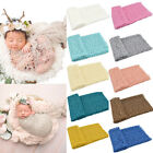 JW_ Newborn Baby Sleeping Blanket Stretchy Mesh Lace Wrap Swaddle Photography