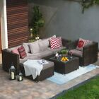 Patio Sofa Set 6/5Pc Outdoor Furniture Set PE Rattan Wicker Cushion Outdoor Gard