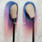 Brazilian Virgin Full Lace Wigs Highlight Ombre Rainbow Lace Front Wig Glueless