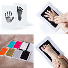 Newborn Footprint Baby Mess Free Ink Pad Stamp Imprint Cards Handprint