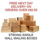 SINGLE WALL POSTAL MAILING CARDBOARD BOXES ROYAL MAIL small SIZES  large post