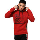 Superdry NEW Gym Tech Stretch Graphic Overhead Hoodie - Firebrand Red BNWT
