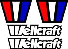 Set+of+%284%29+Wellcraft+Boat+Decals+Scarab+Racing+Fishing+Vintage+WC01