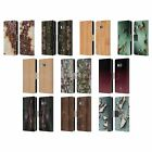 PLDESIGN WOOD AND RUST PRINTS LEATHER BOOK WALLET CASE COVER FOR HTC PHONES 1