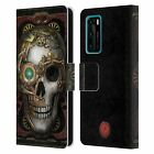 OFFICIAL ANNE STOKES STEAMPUNK LEATHER BOOK CASE FOR HUAWEI PHONES