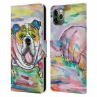OFFICIAL LAUREN MOSS DOGS LEATHER BOOK WALLET CASE FOR APPLE iPHONE PHONES