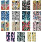 MICKLYN LE FEUVRE FLORALS 2 LEATHER BOOK CASE FOR APPLE iPHONE PHONES