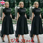 Women's Vintage 1940s 50s Rockabilly Style Evening Party Swing Classy Tea Dress