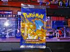 OLD POKEMON ORIGINAL 1ST EDITION CHARIZARD BOOSTER PACK WRAPPER GREAT SHAPE WOTC