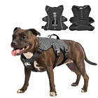 No Pull Reflective Dog Working Vest Harness with Lift Handle Medium Large Breeds