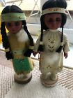 2 Vintage Native American Dolls, ,made In Canada