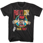 Motley Crue Cartoon Girls Tour 1987 Men's T Shirt Heavy Metal Rock Concert image
