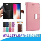 Wholesale Lot Double Cards Slot Leather Flip Wallet Case Pouch Cover For Iphone