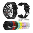 22mm Soft Rugged Silicone Sport Wrist Watch Band Strap For Seiko Diver's Watch image