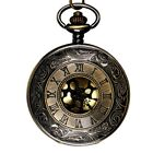 Classical Large Gold Face Roman Pocket Watch Stylish Roman Scale Pocket Wat W9B1