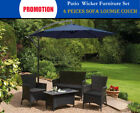 Rattan Patio 4pc Outdoor Furniture Setting Patio Wicker Set Table Chairs Garden