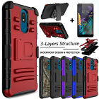 For LG Journey LTE (L322DL) Case Shockproof Stand Cover / Screen Protector Glass