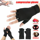 Pair Arthritis Gloves Sports Health Half Finger Recovery Therapeutic Compression $9.55 USD on eBay