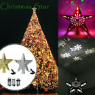 Christmas Tree Topper Star 3D Snowflake Projector Lights Xmas Party Decoration