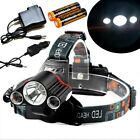 900000LM 3 X T6 Rechargeable LED Headlamp Headlight Flashlight Head Torch Light