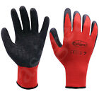 Latex Coated Rubber Work Gloves Safety Gardening Builders Mechanic Construction