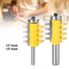 """1/2"""" 1/4"""" Shank Finger Joint Glue Router Bit Cone Tenon Woodwork Cutter Tool US"""