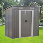 6X4,8X4,8X6,8X10 Metal Garden Shed Pent/Apex Roof Outdoor Storage With Free Base