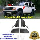 2x+Solid+Steel+Light+Bar+Mount+Bracket+For+Jeep+Cherokee+XJ++Comanche+MJ+4WD%2F2WD