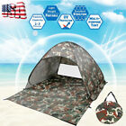 US Pop Up Beach Tent Sun Shade Shelter Outdoor Camping Fishing Canopy 2~3 People