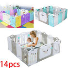 14 Panel Baby Safety Play Yards Kids Folding Playpen Activity Center Fence US for sale  Shipping to South Africa