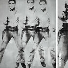 "30W""x36H"" TRIPLE ELVIS 1963 by ANDY WARHOL - PRESLEY KING ROCK CHOICES of CANVAS"