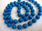 """CLASSIC Vntage 22"""" lapis blue Lucite Necklace knotted between beads. Gift boxed."""