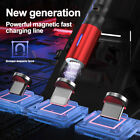 3 in 1 Magnetic Phone Charger Cable Fast Charging & Data Syncing Cord LED Light