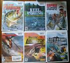 6 Wii video games. 3 fishing, 2 helicoter,1 battleship