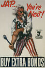 Uncle Sam Jap Youre Next WW2 USA military poster