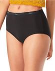 Women's Breathable Cotton All Black Briefs 10-Pack
