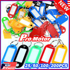 Kyпить 100X Plastic Key Tags Metal Ring Luggage Card Name Label Keychain W/ Split Ring на еВаy.соm